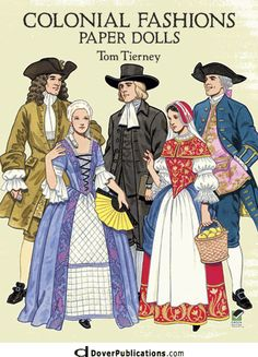 Colonial Fashions Paper Dolls