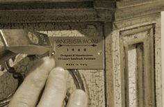 Corporate brand  Vangelista Mobili 1960, the quality is luxury..