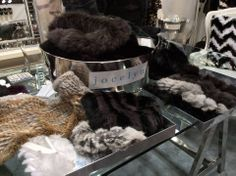 Our JOCELYN Infinity Scarves and Mandy Mittens at Coterie http://www.shopjocelyn.com/