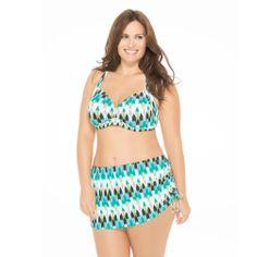 64451afe03322 WaterFall Effect Plus Size Bikini Top with Matching Skirt Plus Swimwear, Plus  Size Swimsuits,