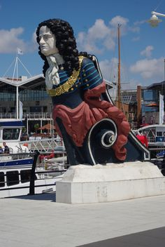 Portsmouth,England - I have a picture of myself standing with this guy Portsmouth Dockyard, Portsmouth England, Ship Figurehead, South East England, City Slickers, Merchant Navy, Naval History, British Countryside, Holiday Places
