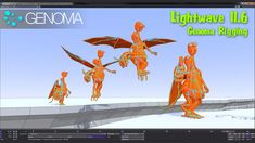 In-depth Genoma charater rigging animation tutorial in LightWave 11.6 by Top of 33 Multimedia. www.lightwave3d.com