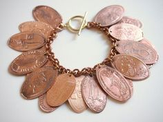 Souvenir Pressed Penny Bracelet disney crafts for adults #disney