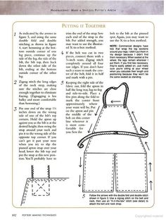 Split leg apron pattern  Pottery Making Techniques: A Pottery Making Illustrated Handbook - Google Books: