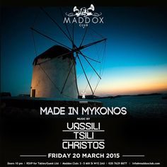 We are excited to announce the return of #MadeInMykonos this Friday! With @vassilitsilichristos