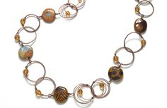 Wire & Kazuri bead necklace | BeadStyleMag.com