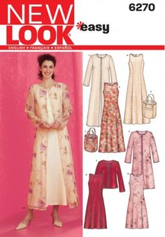 New Look Ladies Easy Sewing Pattern 6270 Dresses, Long & Short Jackets & Bag | Sewing | Patterns | Minerva Crafts
