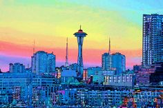 Seattle Space Needle Painting  - Seattle Space Needle Fine Art Print