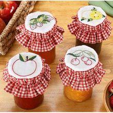 Fruit Stamped Jar Covers