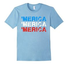 Merica USA Party Funny 4th of July Red White and Blue Shirt