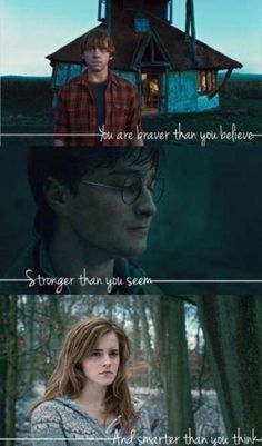 harry potter, brave, and ron weasley resmi