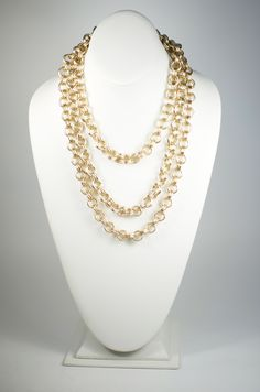 This gold chain is sure to become a wardrobe staple- wear it long, or wrap it for a more layered look!