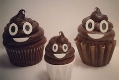 Columbus Day and Poop Emoji Cupcakes
