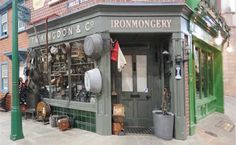 Irormongers/hardware shop front, early 20th century