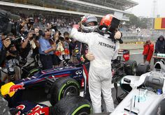 Michael Schumacher, Sebastian Vettel, Interlagos, 2012