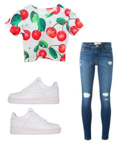 """Untitled #931"" by tanasia2266 ❤ liked on Polyvore featuring Chicnova Fashion, Frame Denim and NIKE"