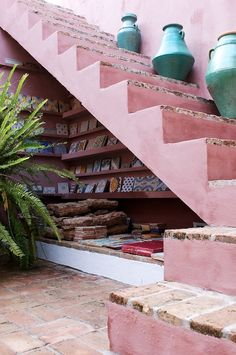 pink kalk Free your Wild :: Beach Boho :: Living Space :: Bedroom :: Bathroom :: Outdoor :: Decor + Design :: Bohemian Home Inspiration :: See Outdoor Spaces, Outdoor Living, Outdoor Decor, Interior Exterior, Interior Design, Stairway To Heaven, Stairways, Architecture, Home Deco