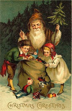 Vintage Christmas/Santa Claus Postcard | Free to use in your… | Flickr
