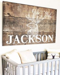 Personalized Woodland Nursery Name Sign - Kids Room Name Sign