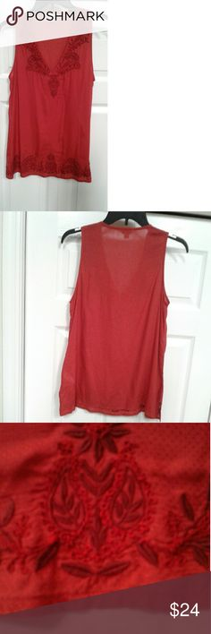 I just added this listing on Poshmark: NMC Lucky Brand Womens Embroidered Red Top Size XS. #shopmycloset #poshmark #fashion #shopping #style #forsale #Lucky Brand #Tops