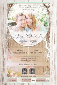 Afrikaanse E-pos Uitnodigings - E-Invites die Tuiste van E-pos Uitnodigings E Invite, Invitation Design, Electronic Invitations, Event Themes, Wedding Invitation Cards, Pos, 50th Birthday, Portfolio Design, Special Day