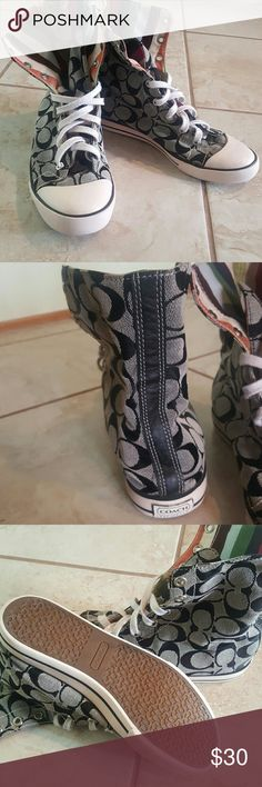 Coach High top sneakers Coach Bonney High top sneakers. Hardly worn but shows signs of wear. Feel free to ask any questions. Coach Shoes Sneakers
