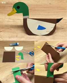 Homemade Crafts, Diy And Crafts, Paper Crafts, Animal Crafts For Kids, Diy For Kids, Pond Crafts, Preschool Craft Activities, Montessori Art, Jr Art