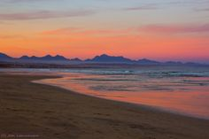 Photo Sunset at the beach, (Mossel Bay, South Africa), by Jean Labuschagne on Apartheid Museum, Table Mountain, Kruger National Park, Great Restaurants, Hiking Trails, Rainbows, South Africa, Beaches, Sunrise