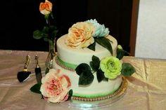My wedding cake by Sugar by Sarah (Bethany Richardson) #weddingstuff #wedding #cake #pastel
