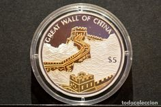 5 DOLLAR LIBERIA $ 2006 DOLAR PLATA Y ORO GRAN MURALLA CHINA