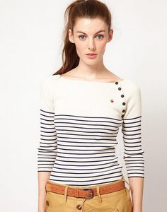 G-Star Striped Knitted Top by G-Star. Shoulder buttons