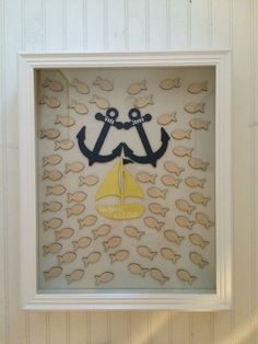 Nautical Alternative Wedding Guest Book by Coastail on Etsy