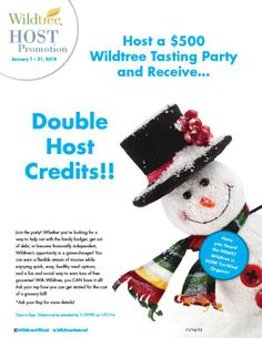 January 2014 Host Promotion!  www.Facebook.com/wildtreeofficial