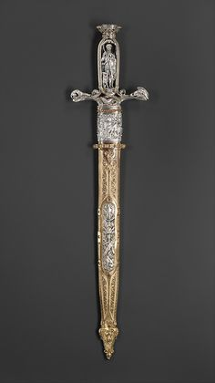 Hunting Sword with Scabbard, ca. 1851. The Metropolitan Museum of Art, New York. Purchase, The Sulzberger Foundation Inc. Gift 1987 (1987.161a, b) #sword