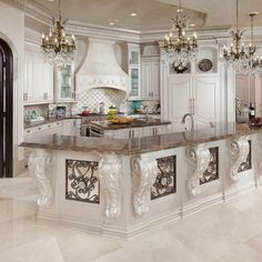 This is gorgeous, but I could not have an all white kitchen! Lol!