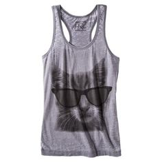 Target : Juniors Cat with Glasses Graphic Tank - Gray : Image Zoom Target Juniors, Target Style, Crazy Cat Lady, Spring Summer Fashion, Fashion Forward, Style Me, Fashion Beauty, Athletic Tank Tops, Girl Outfits