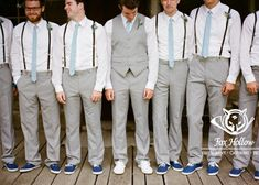 #ConverseSneakers make a casual wedding stylish Love the suspenders for groomsmen and vest for groom
