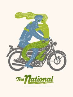 the national with youth lagoon - gig poster.........Reminds me of Forgive My Fins By Tera Lynn Childs
