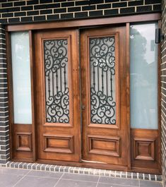 A unique wrought iron security entry door by Adoore Iron Designs located in Melbourne Australia.