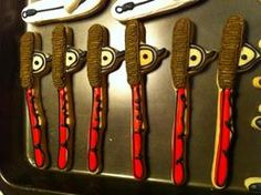 Fishing Poles Fish Cake Birthday, Fishing Poles, Cookies, Food, Fishing Rods, Biscuits, Meal, Fly Fishing Rods, Essen
