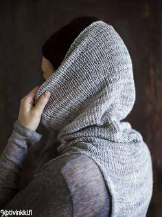 Eleettömän kauniin silkkiliivin kaulus muuntuu tarvittaessa hupuksi. Neulottu liivi syntyy helposti yhdestä lankakerästä. Kurkkaa ohje ja tartu puikkoihin! Crochet Yarn, Knitting Yarn, Hush Hush, Clothes, Knits, Crocheting, Craft, Fashion, Accessories