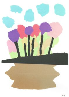 Title: Tulip Surprise Artist / Scheme: Blackham Residents / Blackham House Medium: Acrylic, Collage