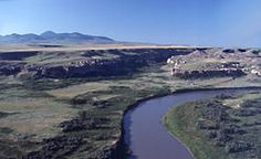 Milk River Ridge AB ca.- Wikipedia, the free encyclopedia: Sweet Grass Hills of Mt. are upper left.. Glacial forces the shape on the Plateau @ above Milk river... this region still gets colder because of that Glacial fact....