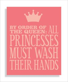 """Going to make this for the kids bathroom in pink and blue adding the word """"princes"""" in there! Too cute!"""