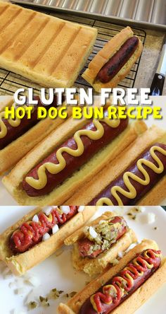 Gluten Free Hot Dog Bun Recipe - Dairy Free & Egg Free Option too!  Soft, Moist & Yummy! #glutenfree #dairyfree #eggfree