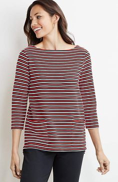 Image for Striped Ottoman Knit Pullover                                                                                                    from JJill