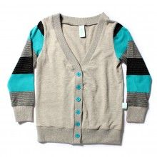 Harvard Cardi Grey Marle with Contrast Sleeves by Minti
