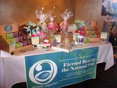 Our full display of handmade soaps, creams, body scrubs, bath salts and gift baskets :)