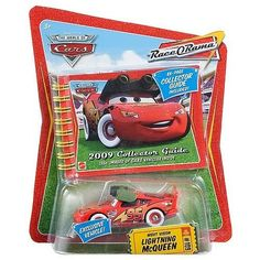 Disney / Pixar CARS Movie 2009 Collector's Guide with Exclusive Die Cast Night Vision Lightning McQueen: Scale Diecast Metal Disney Cars Characters, Disney Cars Toys, Action Figure Store, Disney Cars Diecast, Boy Car Room, Dog Car Accessories, Toy Model Cars, Toys For Boys, Boy Toys