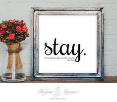 Jane Austen quote printable art motivational quote stay at home decor print minimalist art